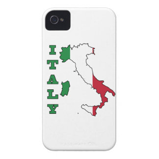 Italy Flag in Map iPhone 4 Cover