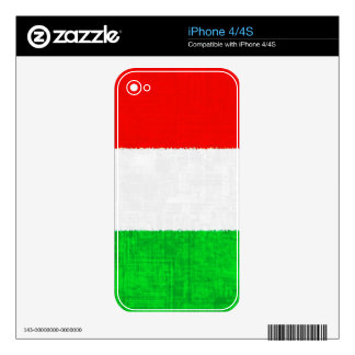 ITALY FLAG iPhone Skin Skins For iPhone 4S