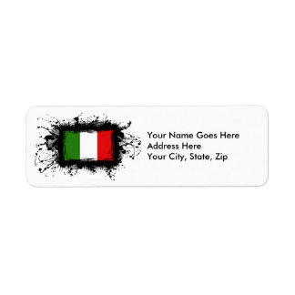 Italy Flag Return Address Label