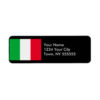 Italy Flag Custom Return Address Labels