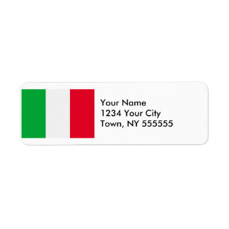 Italy Flag Label