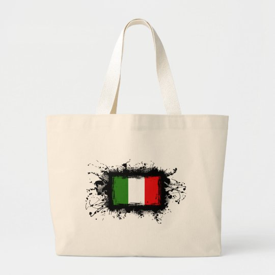 Italy Flag Large Tote Bag