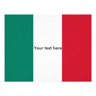 Italy flag letterhead