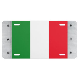 Italy Flag License Plate
