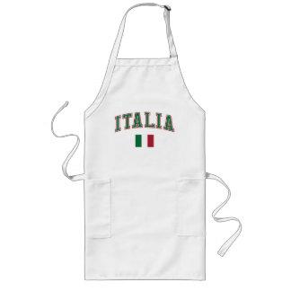 Italy + Flag Long Apron