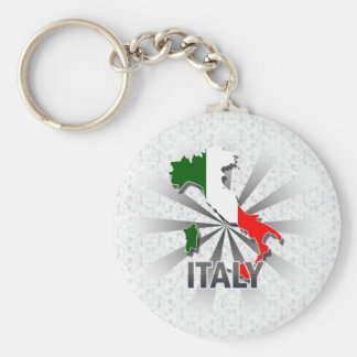 Italy Flag Map 2.0 Keychain