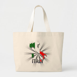 Italy Flag Map 2.0 Large Tote Bag