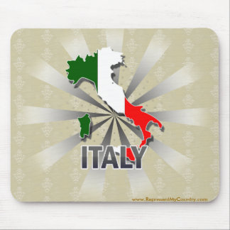 Italy Flag Map 2.0 Mouse Pad