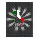 Italy Flag Map 2.0 Postcard