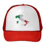 Italy Flag Map_2 Hat