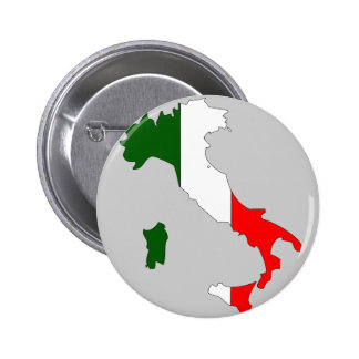 Italy flag map 2 inch round button