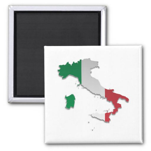 Italy Flag Map_2 Magnet