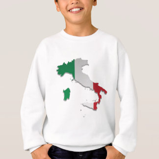 Italy Flag Map_2 Sweatshirt