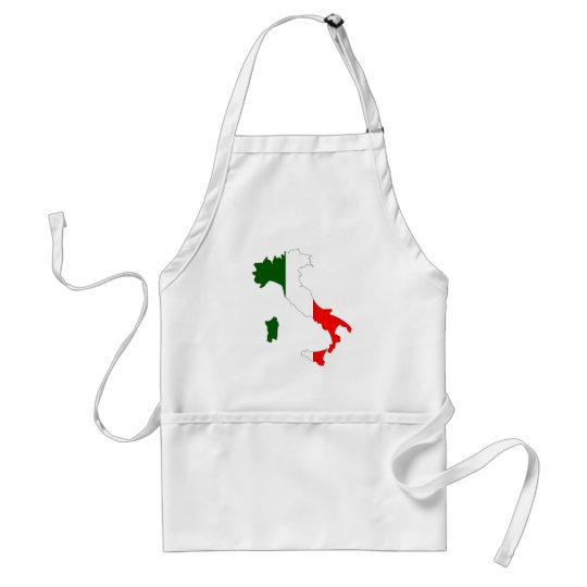 Italy flag map adult apron