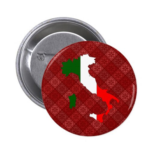 Italy Flag Map full size Buttons