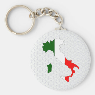 Italy Flag Map full size Keychain