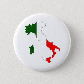 Italy Flag Map full size Pinback Button
