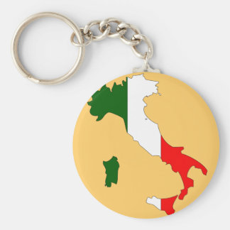 Italy flag map keychain