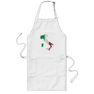 Italy Flag Map Long Apron