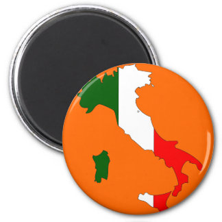 Italy flag map magnet