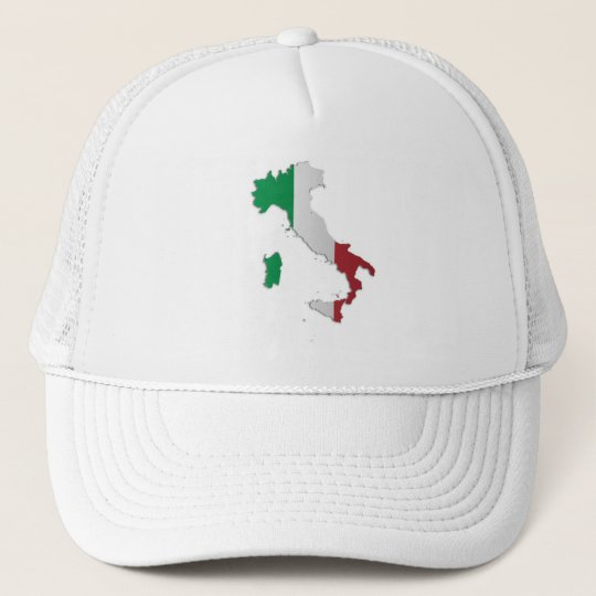 Italy Flag Map Trucker Hat