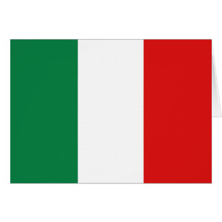 Italy Flag Notecard Stationery Note Card