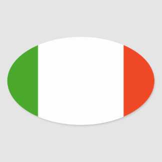 Italy Flag Oval Sticker