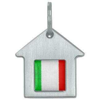 ITALY FLAG PET TAGS