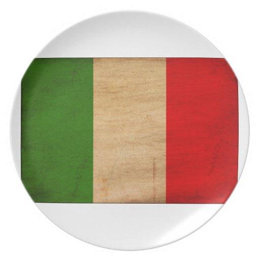 Italy Flag Plates