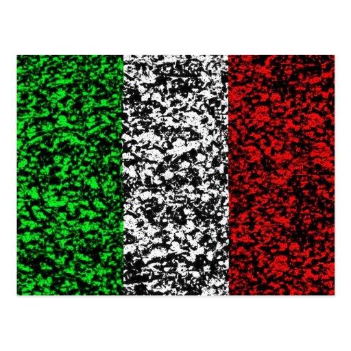 Italy - Flag Postcard