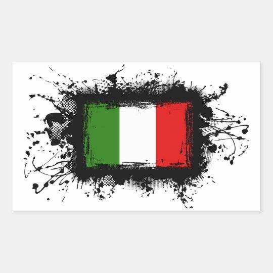 Italy Flag Rectangular Sticker