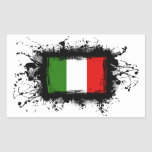 Italy Flag Rectangular Stickers