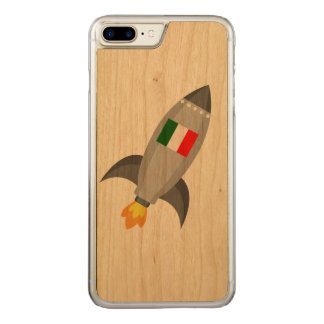 Italy Flag Rocket Carved iPhone 8 Plus/7 Plus Case