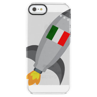 Italy Flag Rocket Clear iPhone SE/5/5s Case