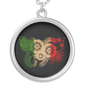 Italy Flag Round Pendant Necklace