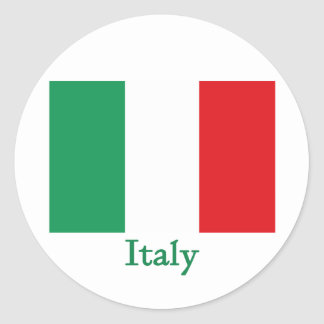 Italy Flag Round Stickers