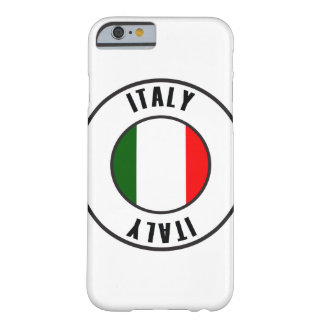 Italy Flag Simple Dark Barely There iPhone 6 Case