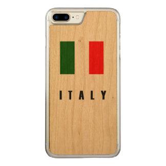 Italy Flag Simple Dark Carved iPhone 8 Plus/7 Plus Case