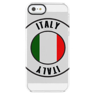 Italy Flag Simple Dark Clear iPhone SE/5/5s Case