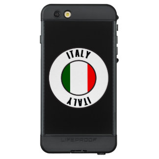 Italy Flag Simple Dark LifeProof NÜÜD iPhone 6s Plus Case
