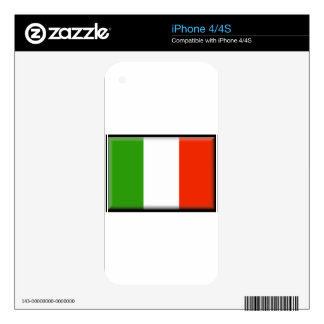 Italy Flag Skin For iPhone 4S