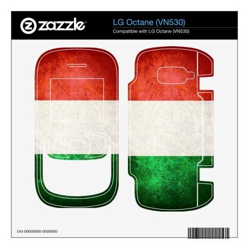 Italy Flag; Skin For The LG Octane