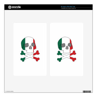 Italy Flag Skull Kindle Fire Skins
