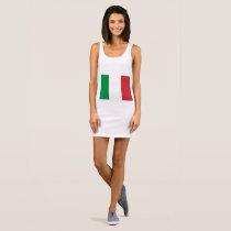 Italy flag sleeveless dress