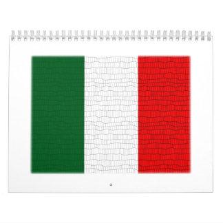 Italy Flag Snake Skin Calendar
