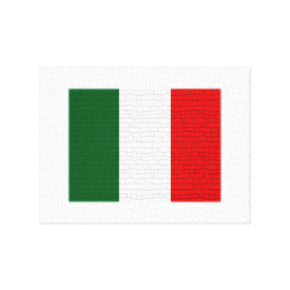 Italy Flag Snake Skin Stretched Canvas Prints