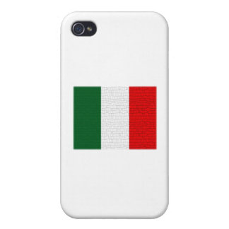 Italy Flag Snake Skin iPhone 4 Cover