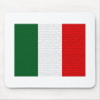 Italy Flag Snake Skin Mouse Pad