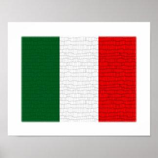 Italy Flag Snake Skin Poster