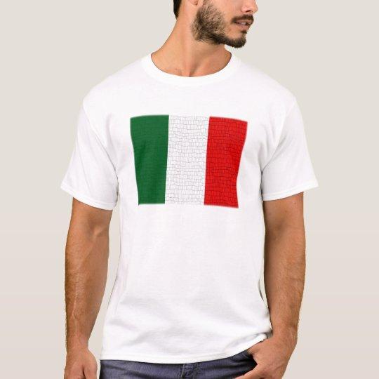 Italy Flag Snake Skin T-Shirt